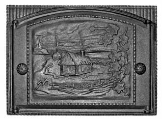 Дверка каминная крашеная «Литком» 375х300 ДК-2Б RLK 345