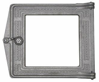 Дверка топочная «Литком» 250х210 со стеклом крашеная ДТ-3С RLK 517