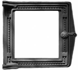 Дверка топочная «Литком» 250х280 со стеклом крашеная ДТ-4С RLK 517