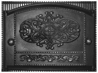Дверка каминная крашеная «Литком» 375х300 ДК-2Б RLK 315