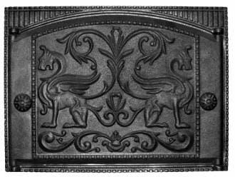 Дверка каминная крашеная «Литком» 375х300 ДК-2Б RLK 325