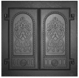 Дверка каминная двухстворчатая крашеная «Литком» 410х410 ДК-6 RLK 8314