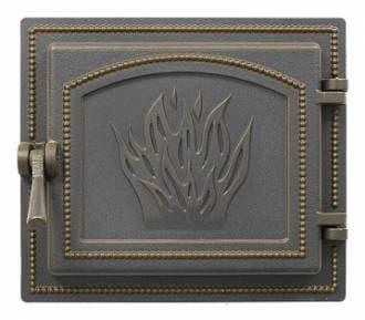 Дверка топочная «Везувий 261» герметичная, бронза