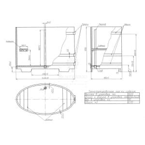 Купель овальная из дуба BentWood 0,80Х1,42