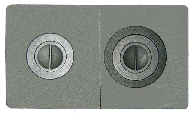 Плита чугунная сборная «Литком Классик» с двумя отверстиями для конфорок ПС2-3
