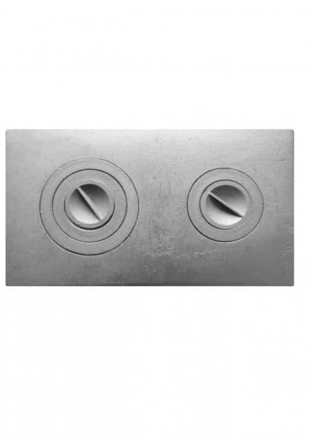 Плита чугунная цельная «Литком Классик» с двумя отверстиями для конфорок П2-3