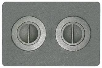 Плита чугунная «Литком Универсал» с двумя отверстиями для конфорок П2-7