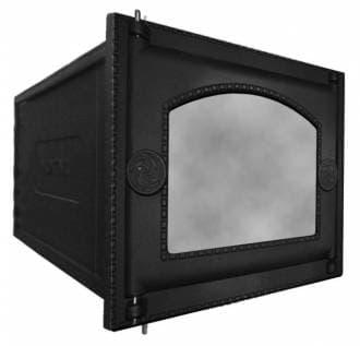 Духовка печная чугунная «Литком» ДП-ДТ-6АC под стекло, без решетки