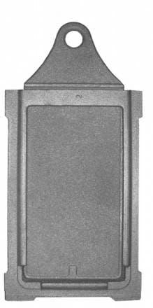 Задвижка дымохода (укороченная) «Литком» ЗВ-3у
