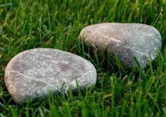 Камень для бани и сауны серпентинит шлифованный мелкий (ведро 10 кг)