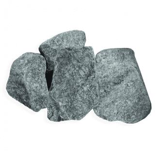 Камень для бани и сауны серпентинит колотый средний (ведро 10 кг)