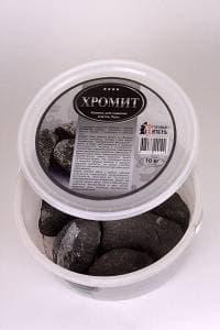 Камень для бани и сауны хромит обвалованный (ведро 10 кг)