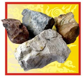 Камень для бани и сауны кварцит (коробка 20 кг)
