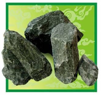 Камень для бани и сауны дунит (коробка 20 кг)