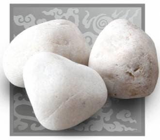 Камень для бани и сауны кварц отборный обвалованный (ведро 10 кг)
