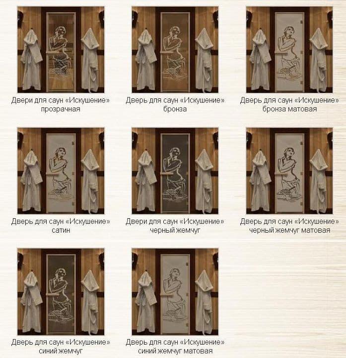 Дверь 1900х700 стекло бронза матовая с рисунком «Искушение»
