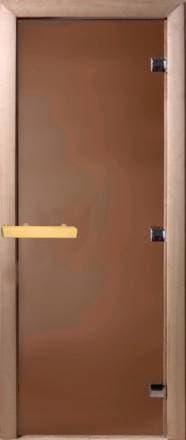 Дверь 1900х700 стекло бронза матовая