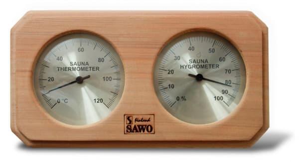 Термогигрометр для бани Sawo 221-THD кедр