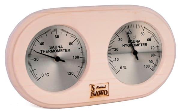 Термогигрометр для бани Sawo 222-THA осина
