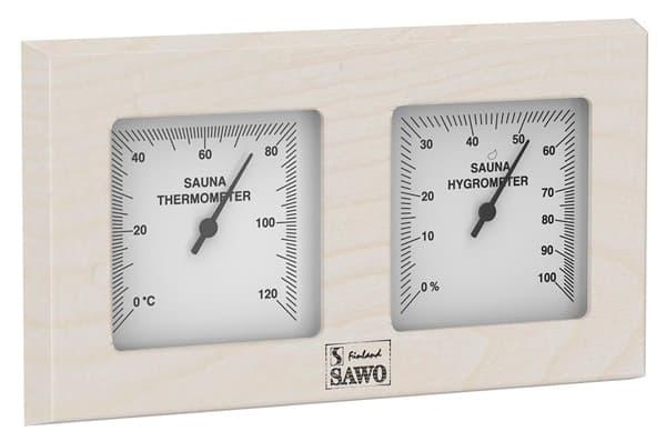 Термогигрометр для бани Sawo 224-THA осина