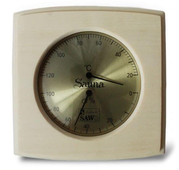 Термогигрометр для бани Sawo 285-THA осина