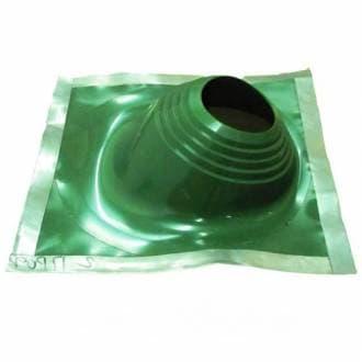 Уплотнитель кровельных проходов Master Flash №2 угловой, cиликон «Профи», зеленый