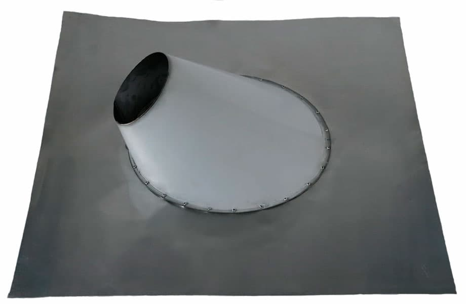 Кровельный проход металлический угловой гибкий фланец, d 115