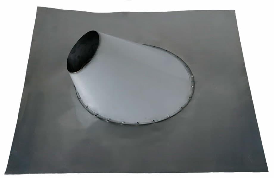 Кровельный проход металлический угловой гибкий фланец, d 150