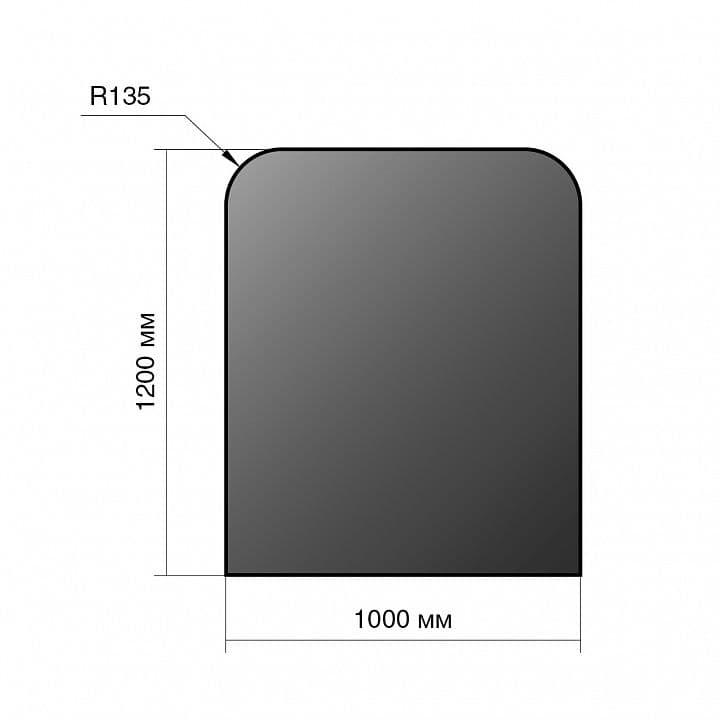 Лист напольный сталь «Везувий» 1200х1000х2 мм R135