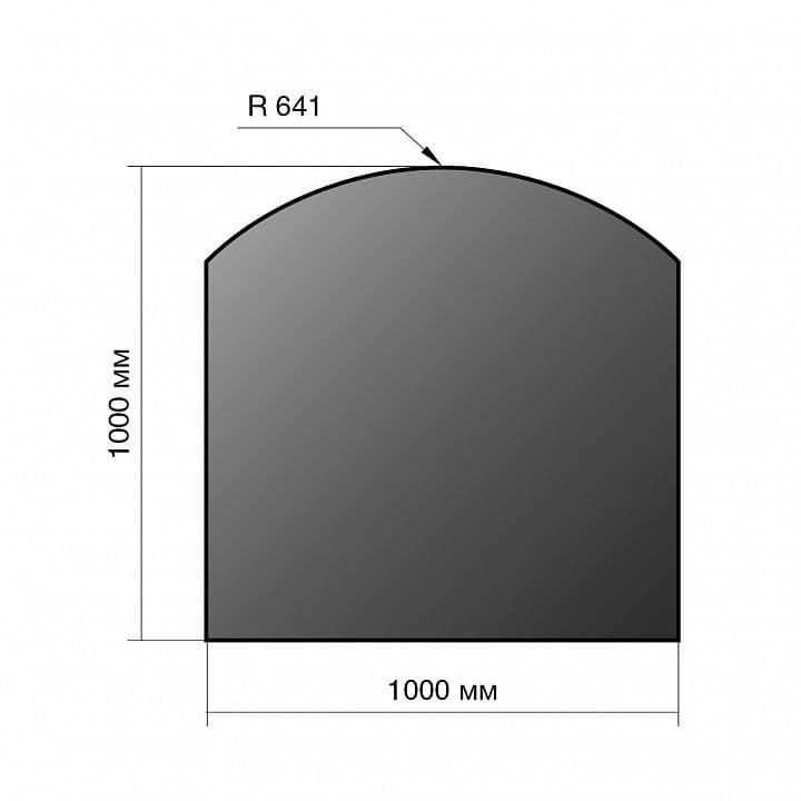 Лист напольный сталь «Везувий» 1000х1000х2 мм R641