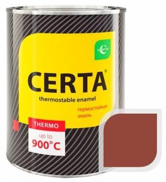 Термостойкая краска Certa «Церта» эмаль (красно-коричневый), 0,8 кг