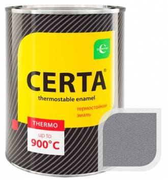 Термостойкая краска Certa «Церта» эмаль (графит), 0,8 кг