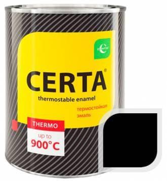 Термостойкая краска Certa «Церта» эмаль (черный), 0,8 кг