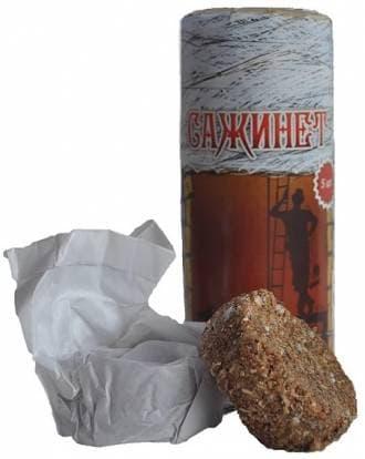 Средство для чистки дымохода (брикет) «САЖИНЕТ»