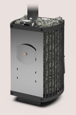 Банная печь «Теплодар Домна-Сетка-30 ЛК Панорама»
