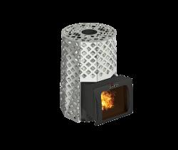 Банная печь Grill'D Violet Steel Romb Short Window Max (Жадеит 100 кг)