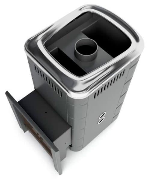 Банная печь газовая «TMF Уренгой 2018 Carbon» антрацит, с теплообменником