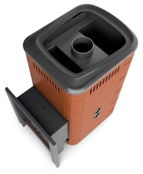 Банная печь газовая «TMF Уренгой 2018 Carbon» терракота, с теплообменником