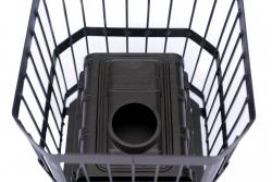 """Печь банная чугунная """"Сибирь-15"""". Чугунная дверца без ВТК (сетка)"""