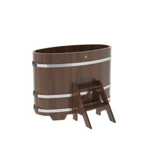 Купель овальная из лиственницы BentWood 0,69Х1,31
