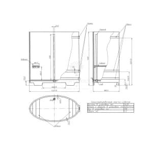 Купель овальная из лиственницы BentWood 0,80Х1,42