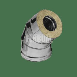 Сэндвич-колено 135° Ferrum, оцинк., 0,8 мм