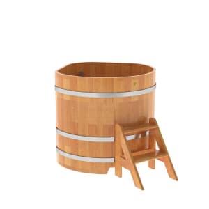 Купель угловая из сращенных ламелей лиственницы BentWood 1,10х1,10