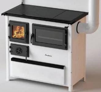 Дровяная кухонная плита для загородного дома MBS Trend (плита, духовка)