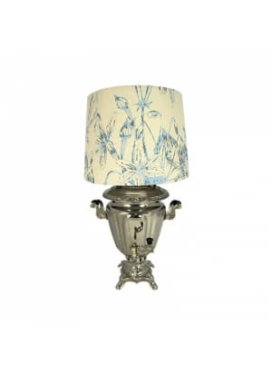 Самовар-светильник с абажуром, форма Рюмка граненая