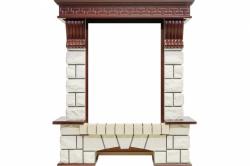 Каменный портал Dimplex Pierre Luxe - Темный дуб / Белый (Высота 1060мм)