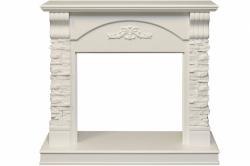 Каменный портал Dimplex Prague - Белый /Сланец белый