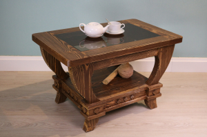 Столик кофейный со стеклом