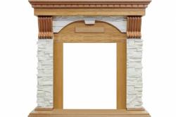 Каминный портал Royal Flame Dublin - Дуб / Сланец белый