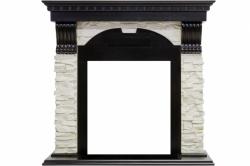 Каминный портал Royal Flame Dublin - Венге / Сланец белый